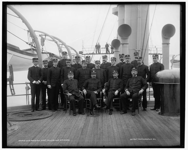 U.S.S. Raleigh, Capt. Miller and officers