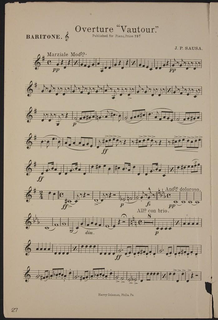 Vautour, Overture