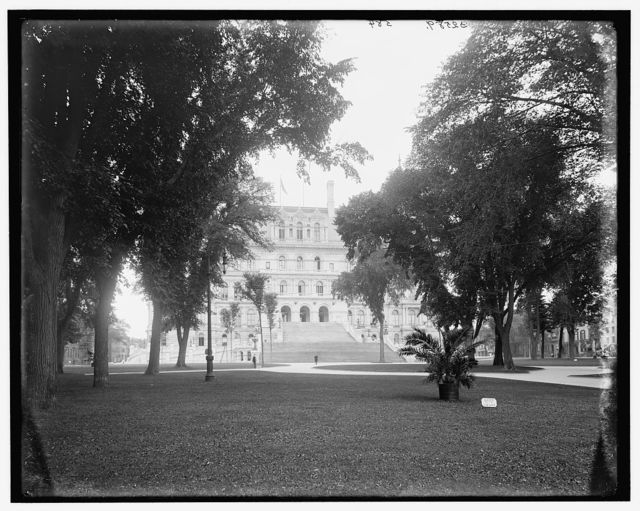 [A Glimpse of the Capitol, Albany, N.Y.]