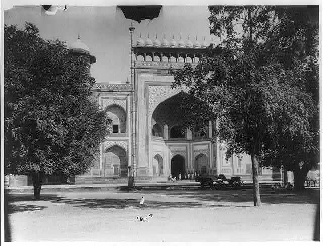 Agra - gateway to garden court of the Taj Mahal