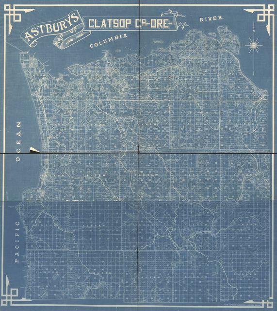 Astbury's map of Clatsop Co., Ore., Aug. 1895 /