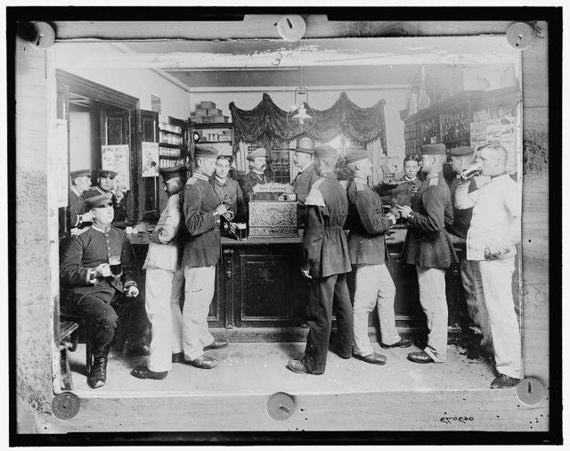[Bar with soldiers, Germany]