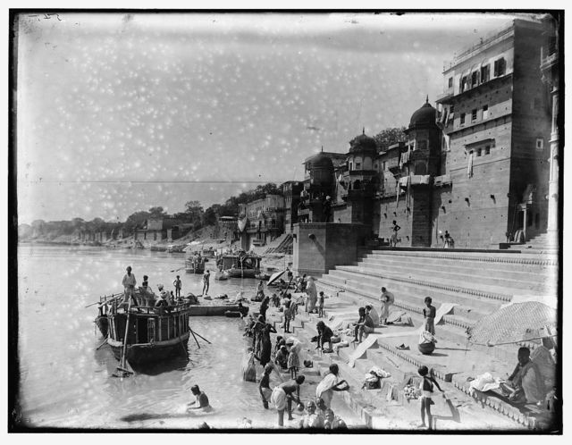 [Bathing in the Ganges, India]
