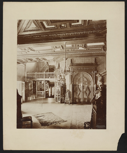 """Belcourt,"" residence of O.H.P. Belmont Esq., Newport, R.I., 1891, second story hall / Frank H. Child, photographer, Newport, R.I."