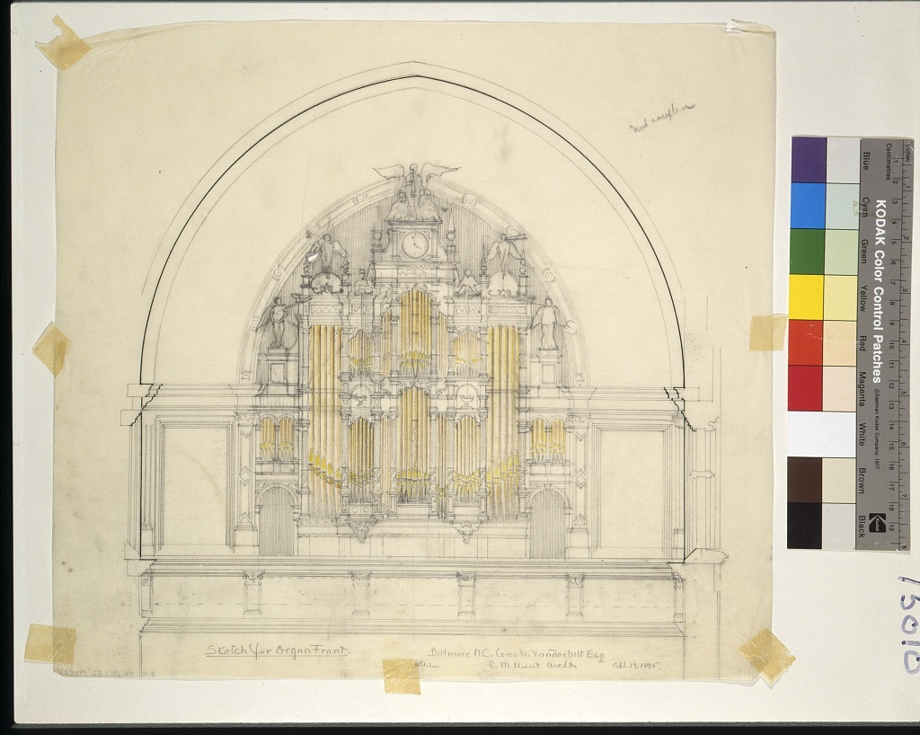 [Biltmore, Asheville, North Carolina. Banquet hall. Pipe organ. Elevation]