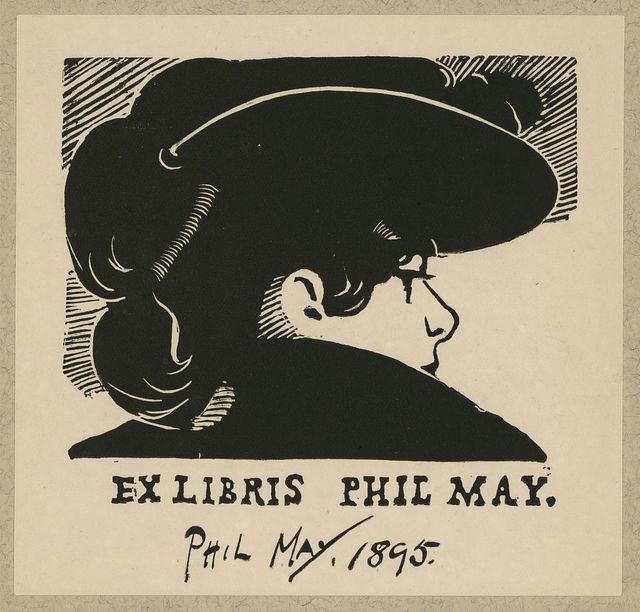 [Bookplate of English caricaturist Phil May] / Phil May.