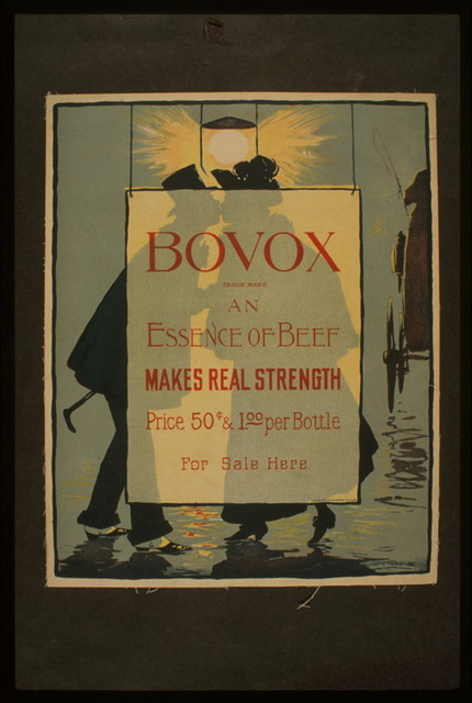 Bovox trademark - an essence of beef Makes real strength.