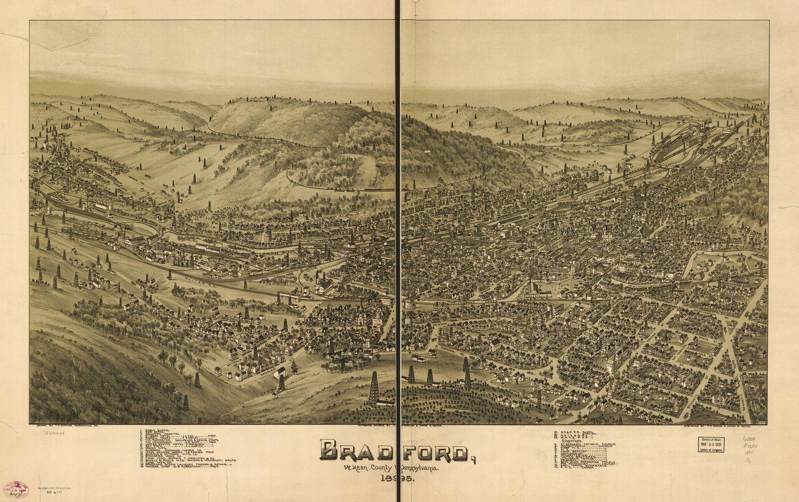 Bradford, McKean County, Pennsylvania, 1895.