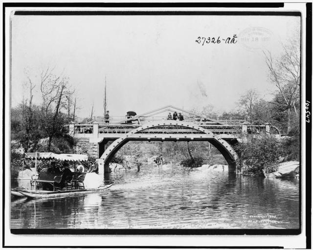 Bridge at 59th St., Cent. Park, N.Y. / J.S. Johnston, View & Marine Photo, N.Y.