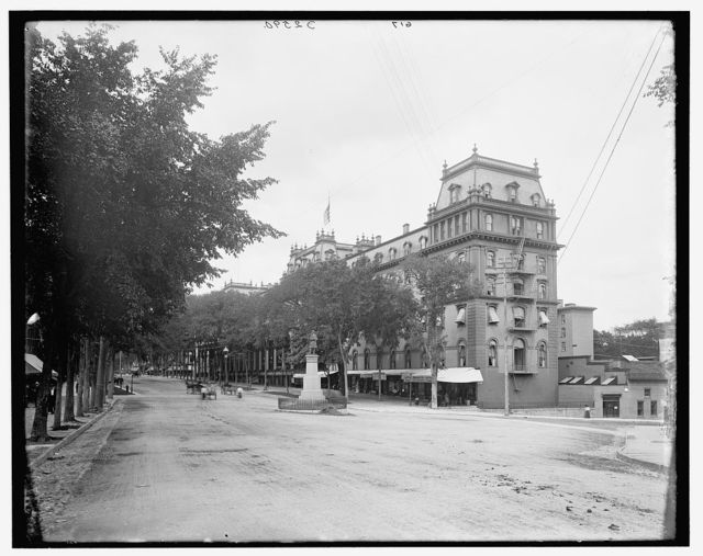 [Broadway and Congress Hall, Saratoga, N.Y.]