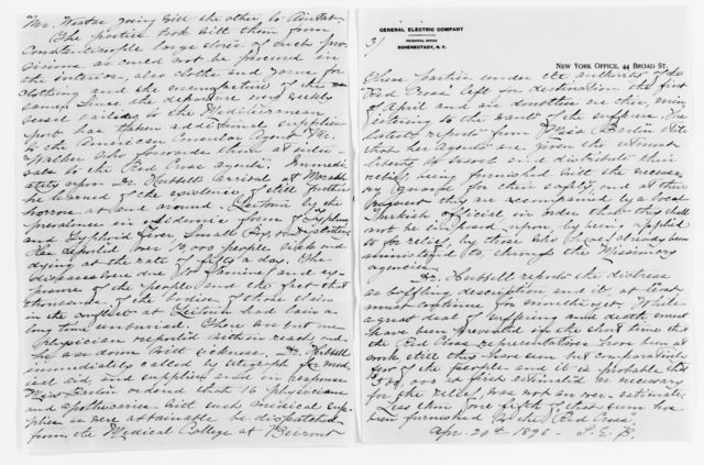 Clara Barton Papers: Red Cross File, 1863-1957; American National Red Cross, 1878-1957; Relief operations; Armenia and Turkey; Drafts, notes, and reports, 1895-1896, undated