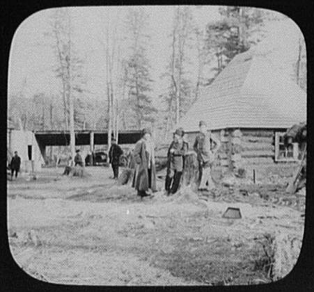 Convicts' camp near Eastern Siberian Railway