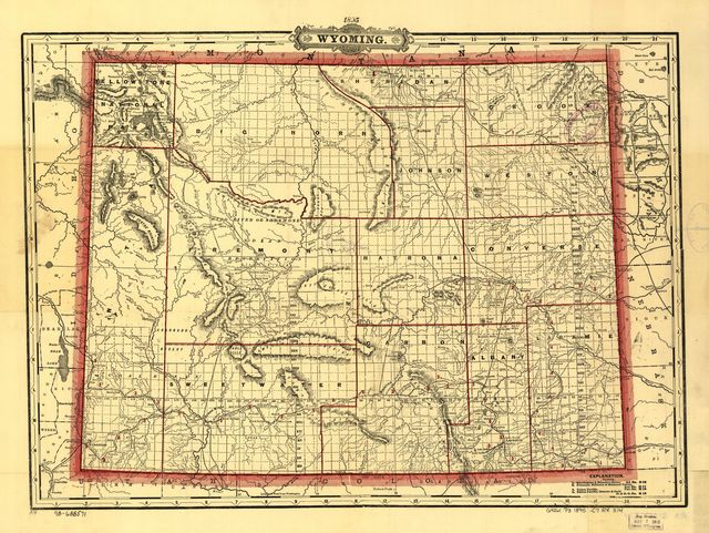 Cram's township and railroad map of Wyoming.