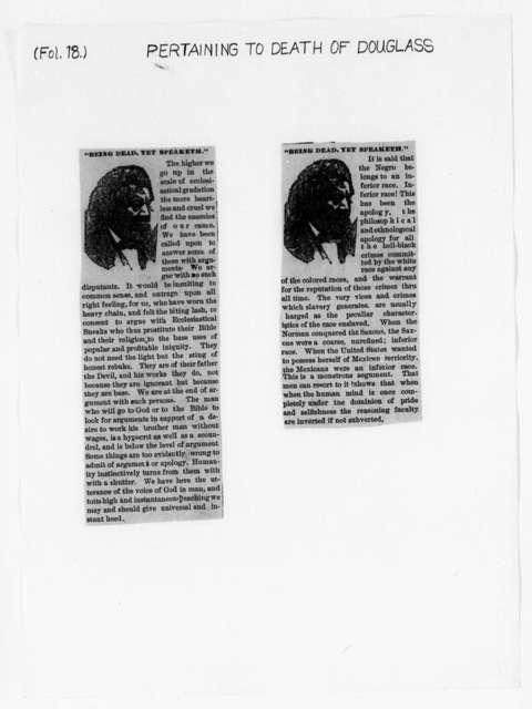 Douglass, Frederick (Death) - Folder 27 of 34