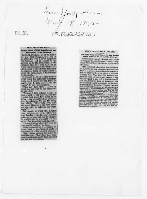 Douglass, Frederick - Will