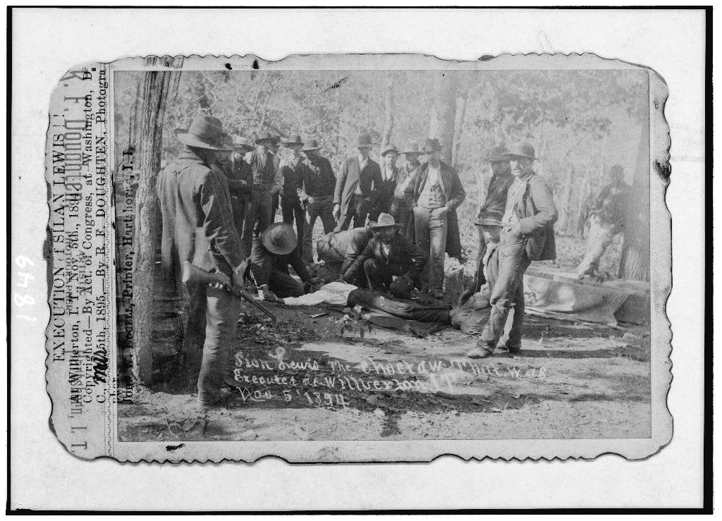 Execution of Silan Lewis, at Wilberton, I.T., Nov. 5th, 1894
