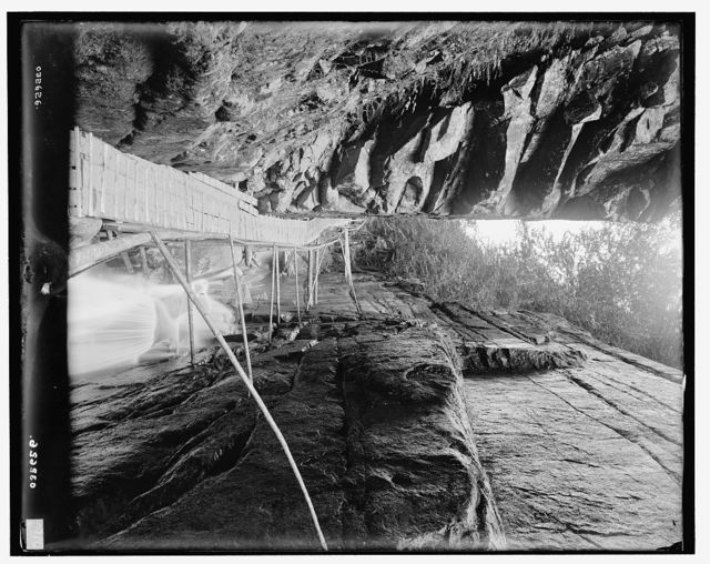 [Franconia Notch, in the Flume, White Mtns., N.H.]