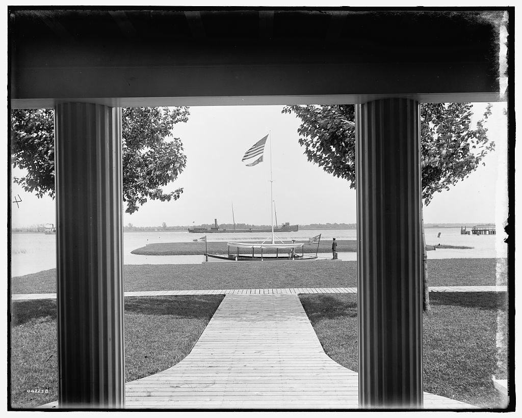 [From porch of Morgan residence, St. Clair Flats, Mich.]
