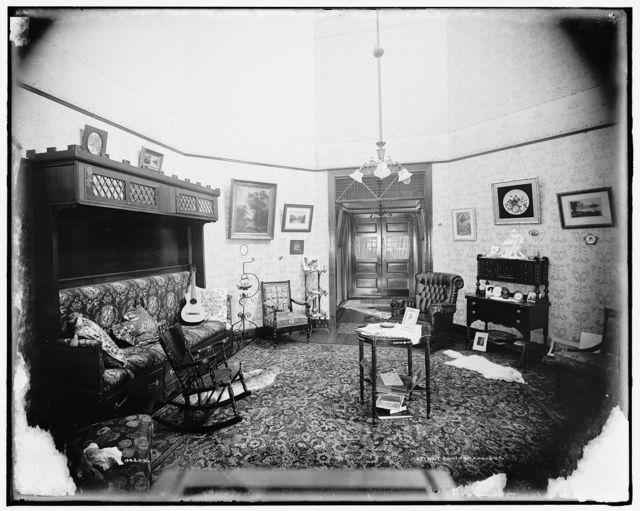 [H.C. Clark residence, interior]