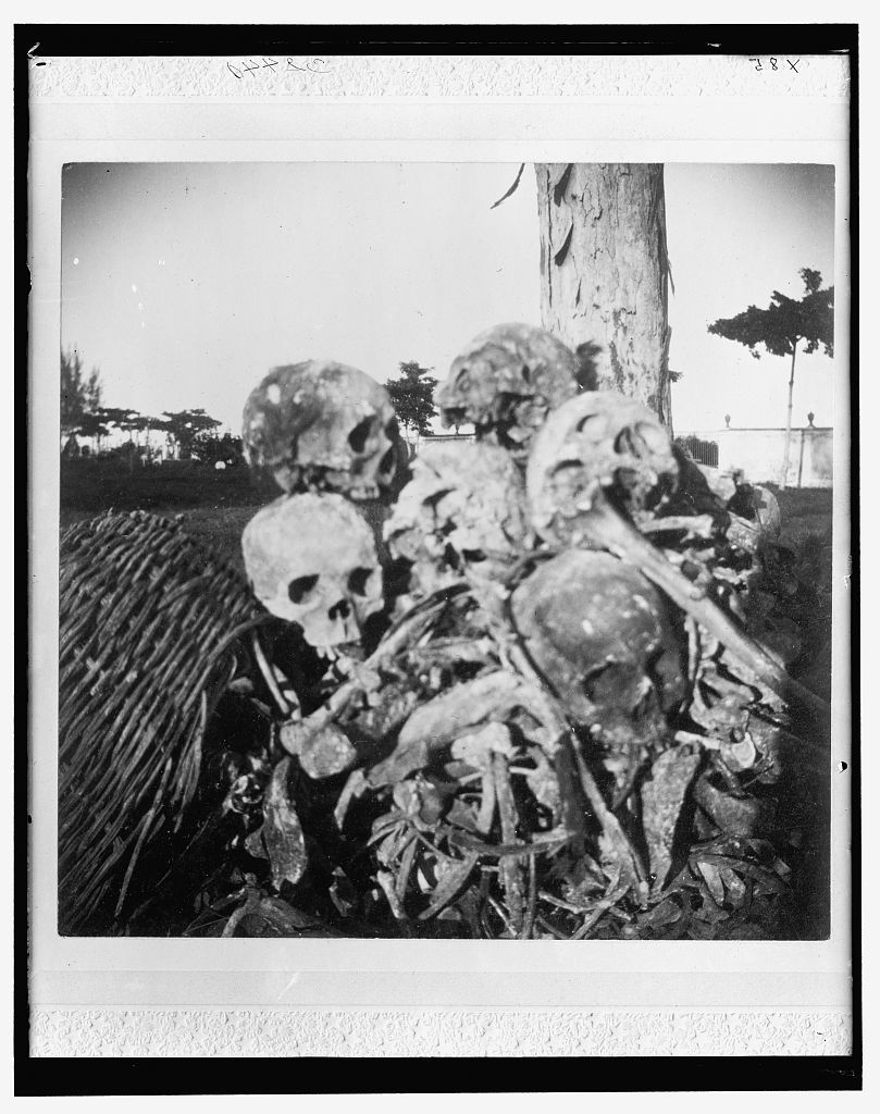 [Heap of bones in cemetery, Necropolis Cristobal Colon, Havana]