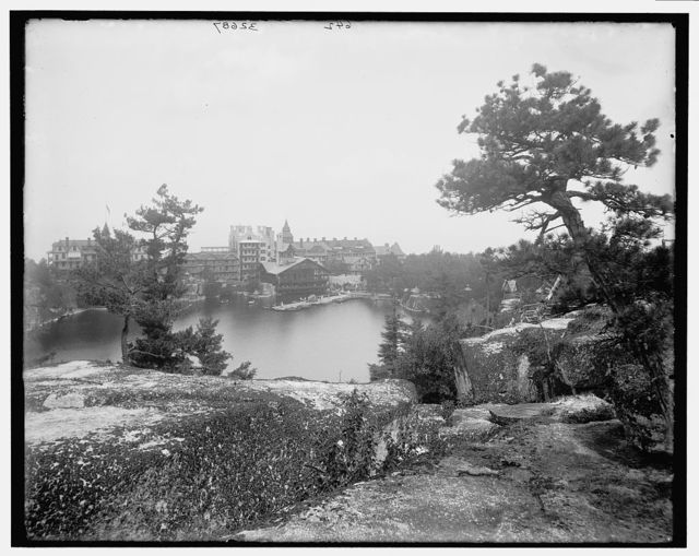 [Lake Mohonk Mountain House, N.Y., from near trail to Sky Top]