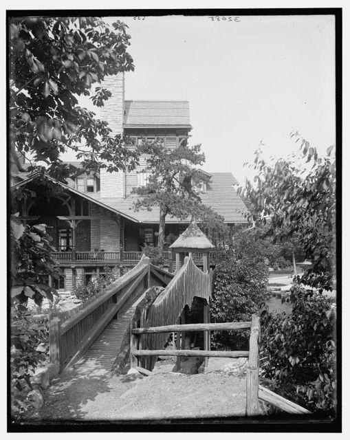 [Lake Mohonk Mountain House, N.Y., rustic bridge]