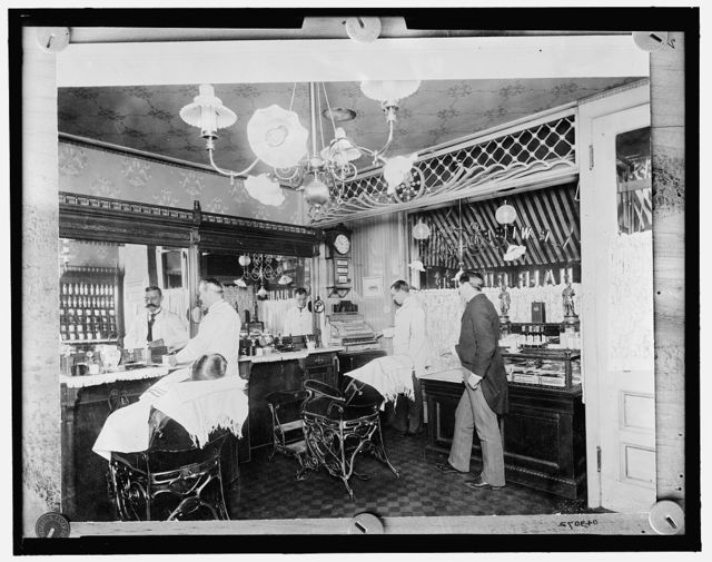 [L.C. Wiseman, barber shop, New York City]