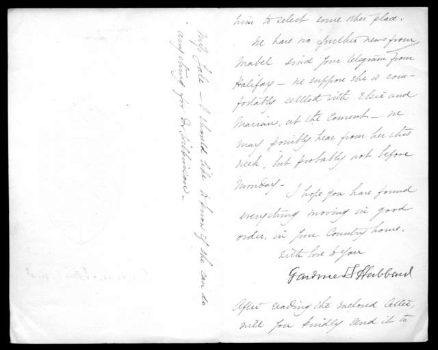 Letter from Gardiner Greene Hubbard to Alexander Graham Bell, May 22, 1895