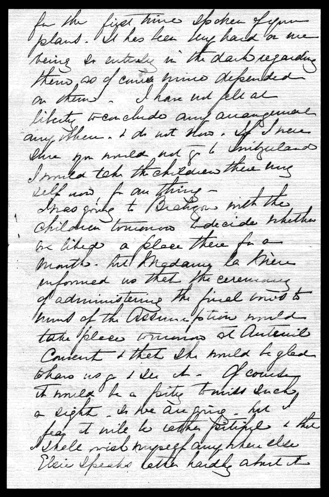 Letter from Mabel Hubbard Bell to Alexander Graham Bell, July 9, 1895