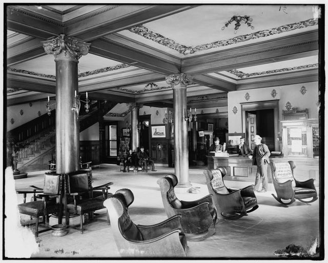 [Lobby of Harrington Hotel, Port Huron, Mich.]