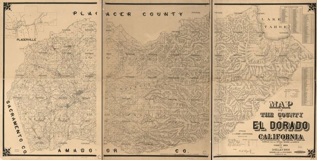 Map of the County of El Dorado, California : compiled from the official records and surveys /