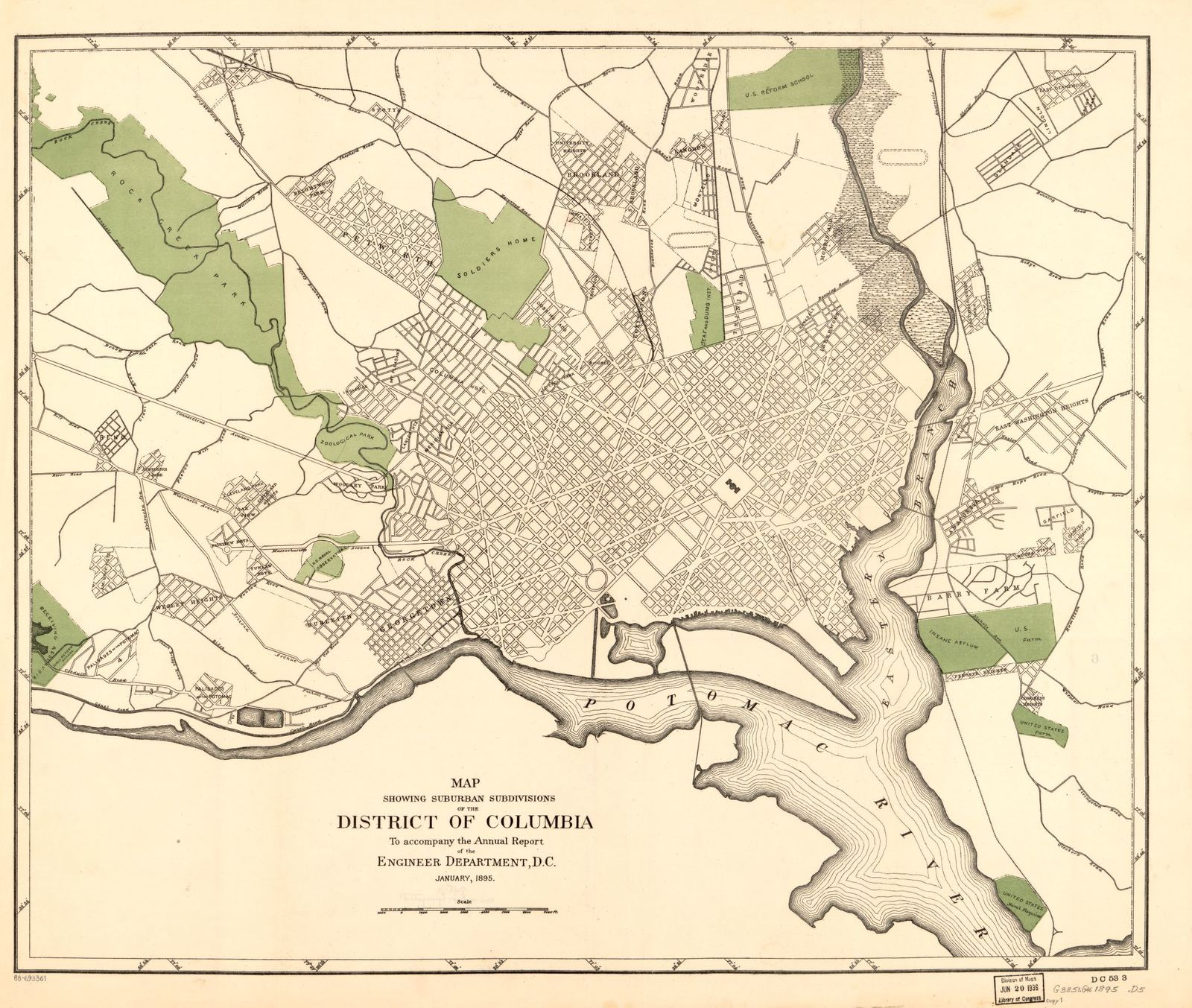 Map showing suburban subdivisions of the District of Columbia / | PICRYL