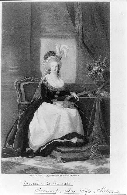 """Maria Antoinette"" facsimile after Vigée-Lebrun"