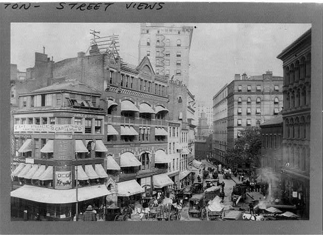 [Market Street and Court Street, Boston, Massachusetts] / Clinton Johnson, photo.
