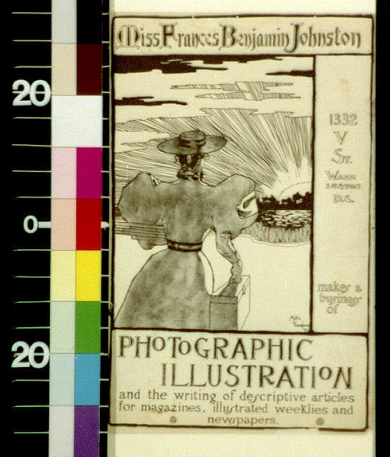 Miss Frances Benjamin Johnston, 1332 V St., Washington, D.C., makes a living of photographic illustration and the writing of descriptive articles for magazines, illustrated weeklies, and newspapers