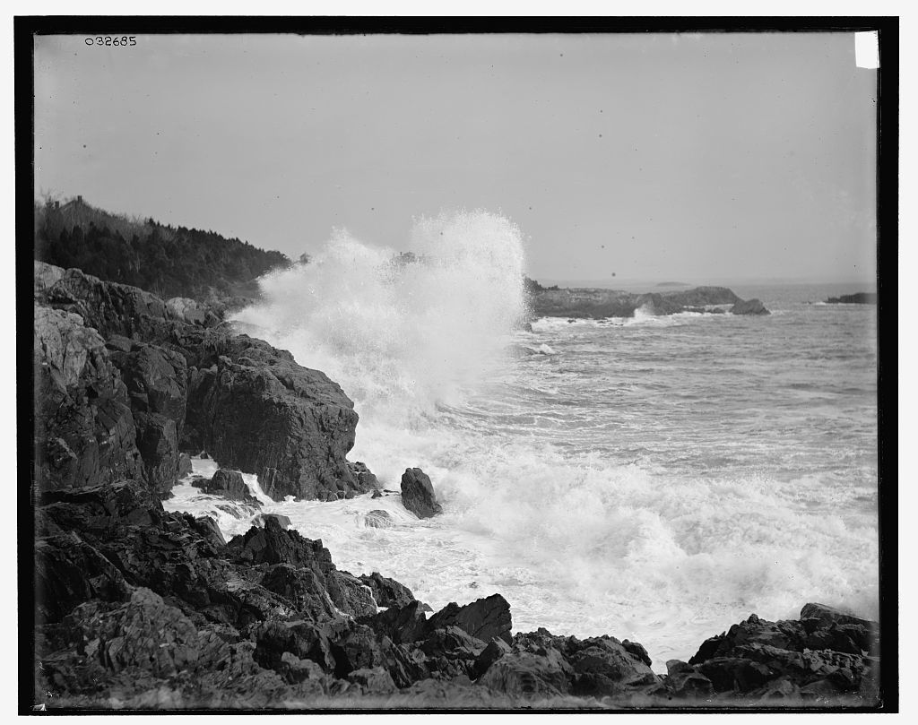 [Neck surf near the Churn, Marblehead, Mass.]