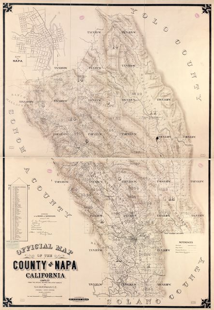 Official map of the County of Napa, California : compiled from the official records and latest surveys /