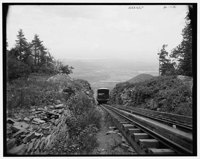 [Otis Elevating Railway, looking down, Catskill Mts., N.Y.]