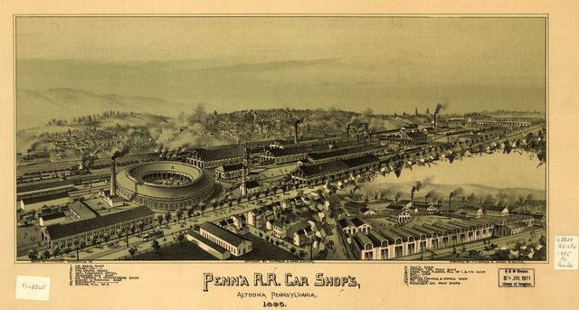 Penn'a R.R. car shop's Altoona, Pennsylvania 1895 /