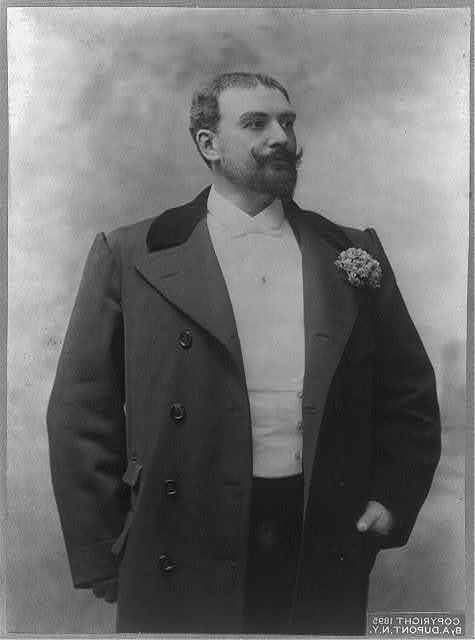 [Pol Planc̦on, 1854-1914, half-length portrait, standing, facing right]