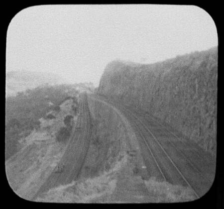 Reversing station or switchback on the Bhor Ghat incline of the Great Indian Peninsula railway, near Bombay