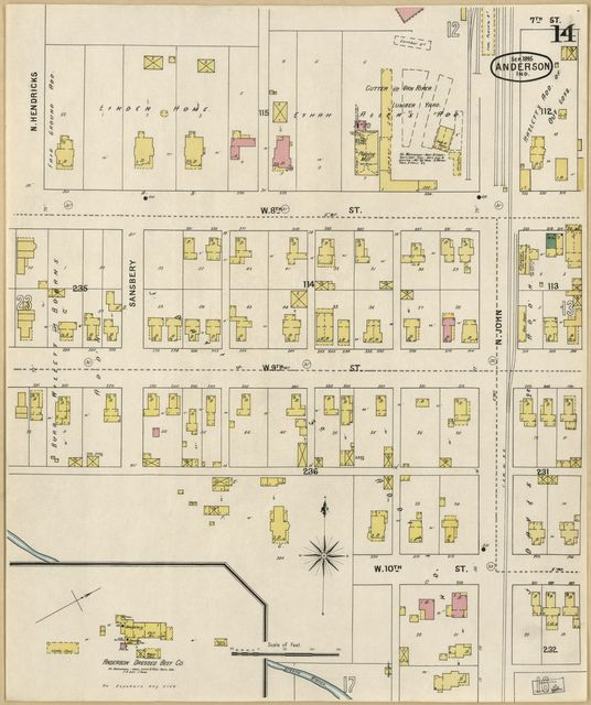 Sanborn Fire Insurance Map from Anderson, Madison County, Indiana.