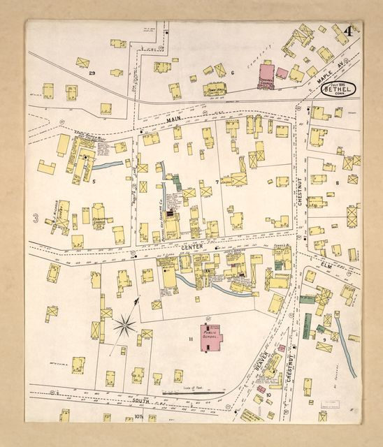 Sanborn Fire Insurance Map from Bethel, Fairfield County, Connecticut.