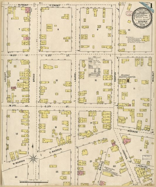 Sanborn Fire Insurance Map from Beverly, Burlington County, New Jersey.