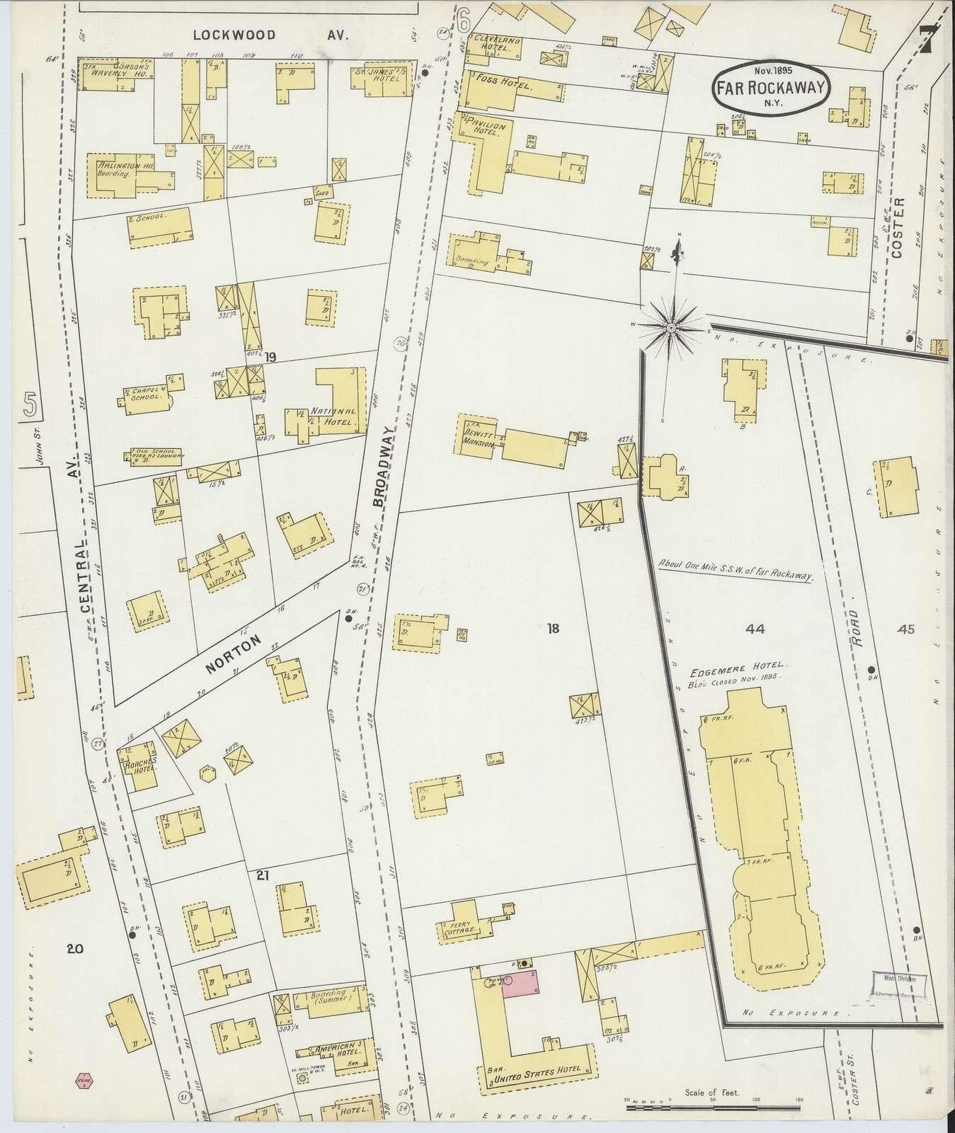 Sanborn Fire Insurance Map from Far Rockaway, Queens County, New York