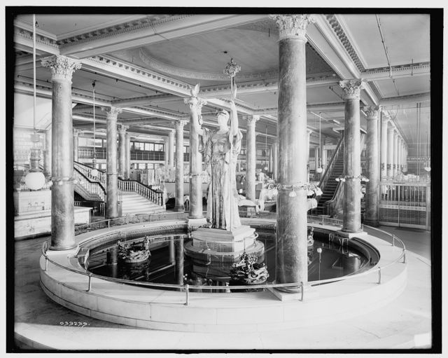 [Siegel, Cooper and Co.'s store, the fountain]