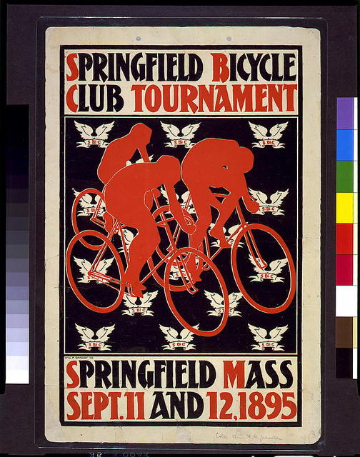 Springfield Bicycle Club Tournament, Springfield, Mass., Sept. 11 and 12, 1895 / Will H. Bradley.
