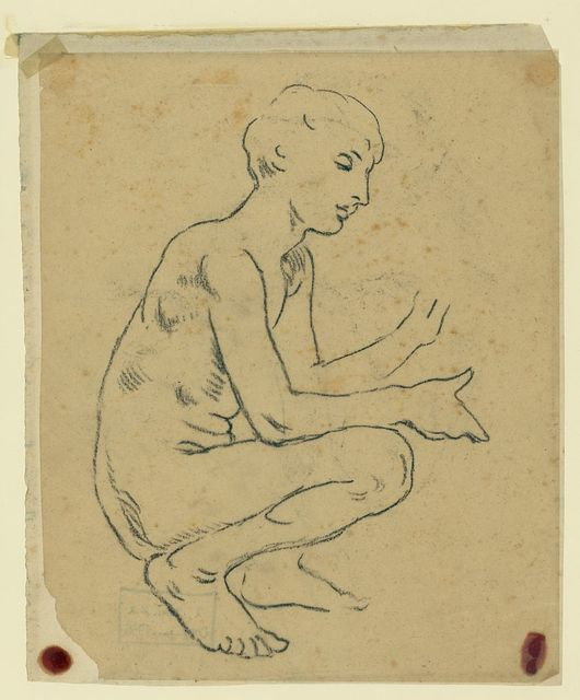 [Study for figure of Arts in the mural Peace and prosperity, no. 4]