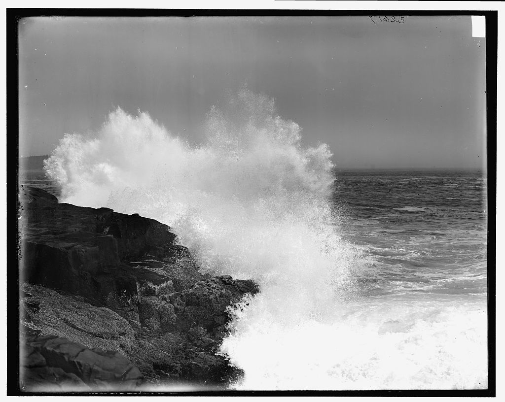 [Surf at Otter Cliffs, Mt. Desert Island, Me.]