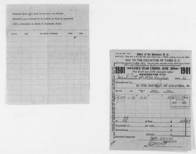 Tax Bills, 1895-1903